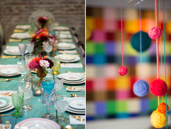 A Colorful Vintage Baby Shower