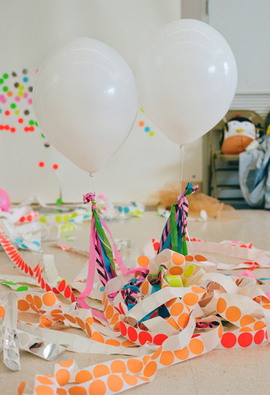 neon kids birthday party