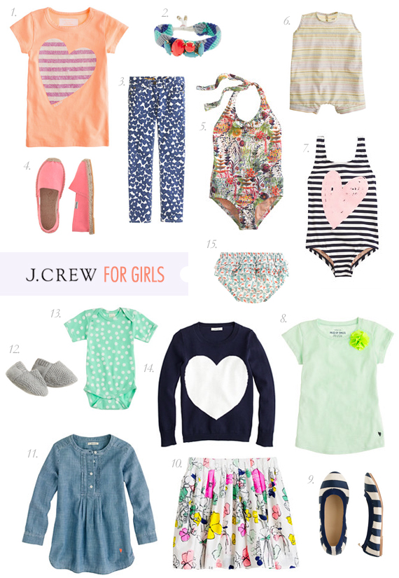 J. Crew girls for spring + a giveaway on 100 Layer Cakelet