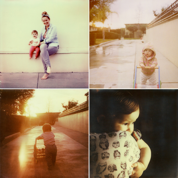 Baby's first year on Polaroid | Erin de Jauregui | 100 Layer Cakelet