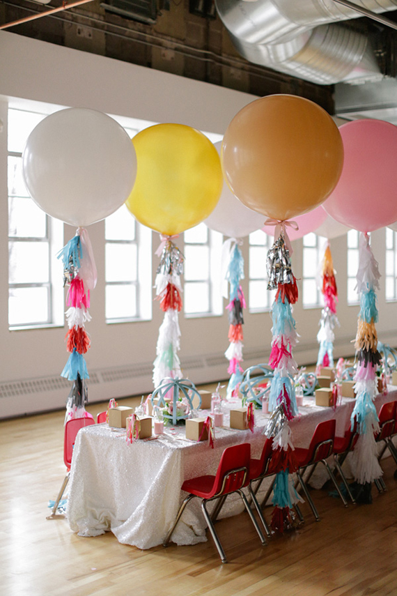 Girls Second Birthday Party Ideas Geronimo Balloons Pink Ombre Cake - Childrens birthday party events