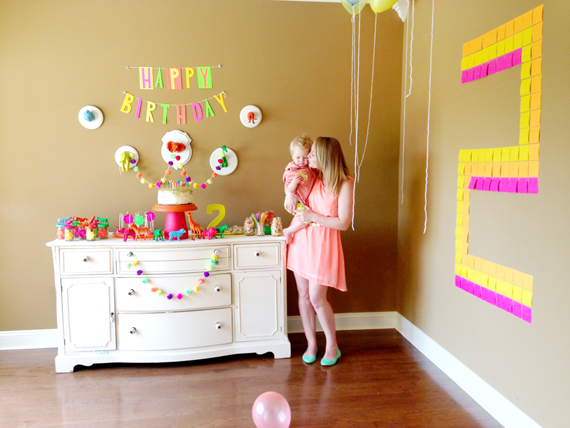 Lennon's neon 2nd birthday | Simply Bloom Photography | 100 Layer Cakelet