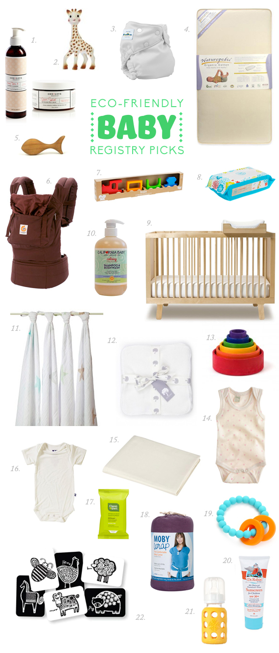 Eco-friendly baby registry picks | 100 Layer Cakelet