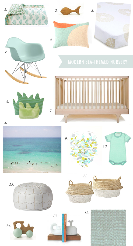 Modern sea-theme nursery board | 100 Layer Cakelet