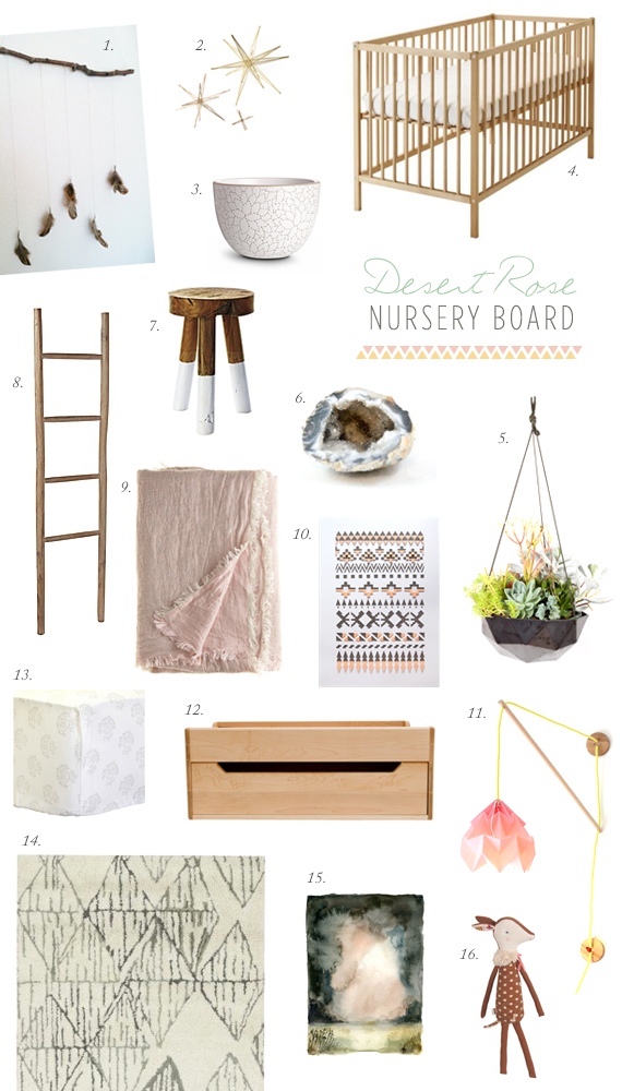 Desert Rose nursery idea board | 100 Layer Cakelet