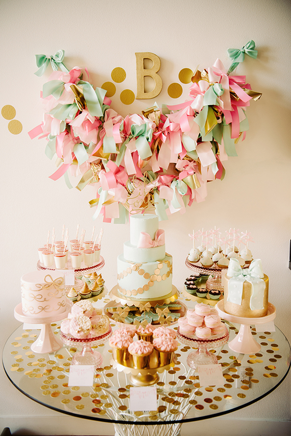 Blakes girly bowthemed first birthday party by Sweet Saucy Shop