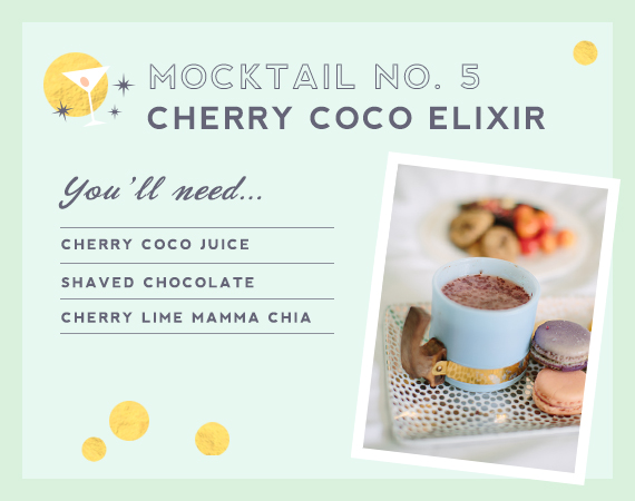 Cherry Coco mocktail from Mrs. Lilien and The Hostess Haven | 100 Layer Cakelet
