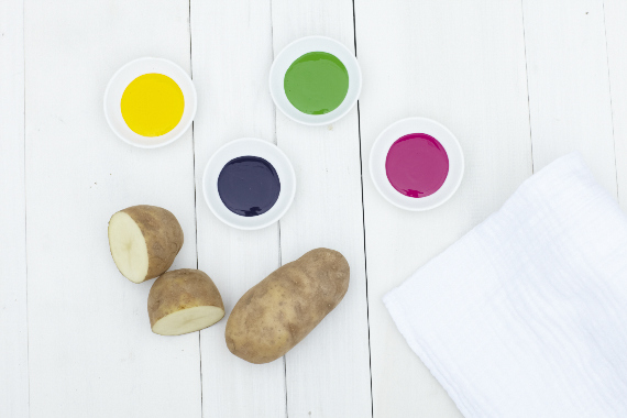 DIY potato print swaddles | 100 Layer Cakelet