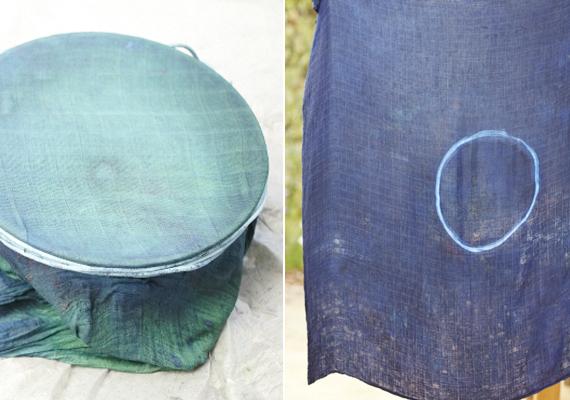 DIY indigo dyed swaddles | 100 Layer Cakelet