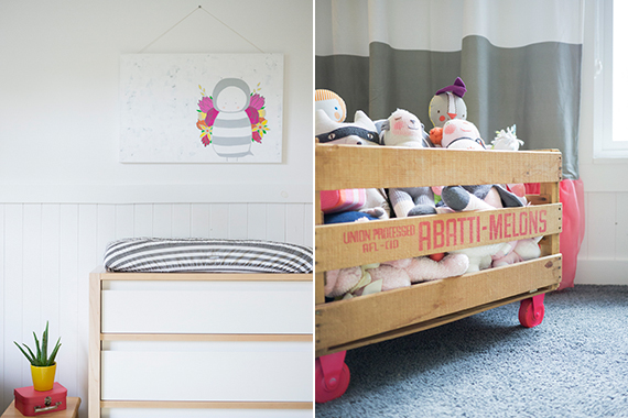 Modern girl's nursery from Design for Minikind | 100 Layer Cakelet