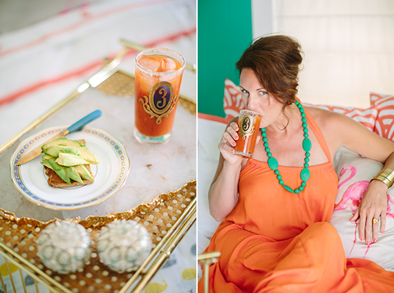 Mrs Lilien's mocktails with The Hostess Haven   100 Layer Cakelet