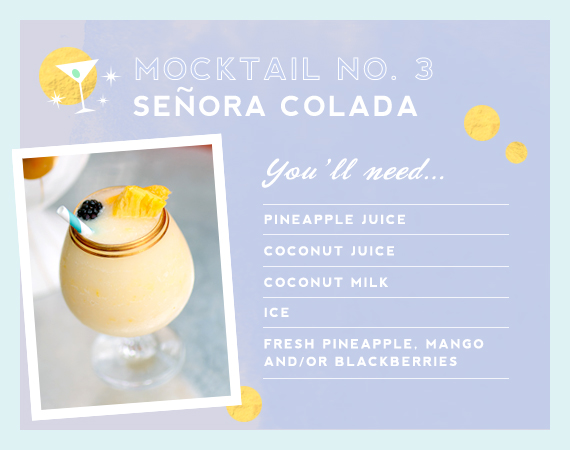 Pina Colada mocktail from Mrs. Lilien and The Hostess Haven | 100 Layer Cakelet