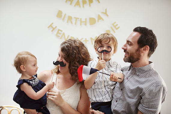 French-themed 1st birthday party for twins | 100 Layer Cakelet