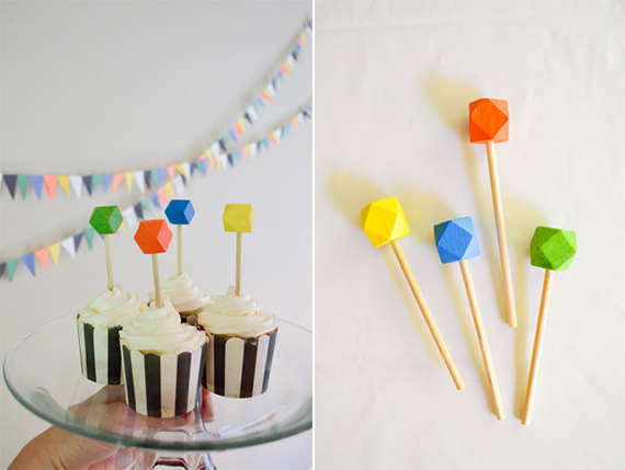 Geometric 1st birthday party | Swoon Studio | 100 Layer Cakelet