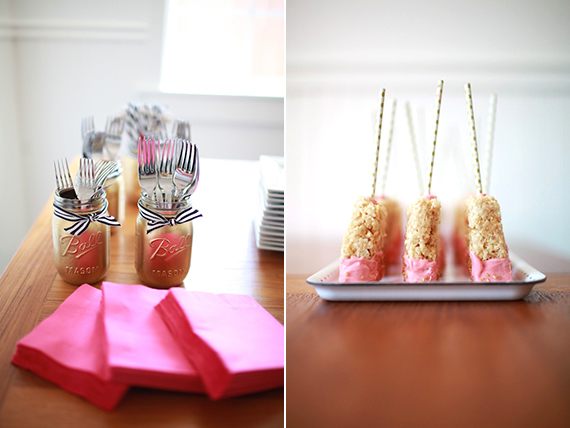 Pink, gold, lightning bolt baby shower | 100 Layer Cakelet
