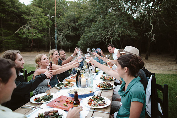 Family dinner in Sonoma | Kate Harrison Photography | 100 Layer Cakelet