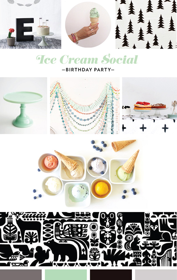 1st birthday mood board by Mara Dawn | 100 Layer Cakelet