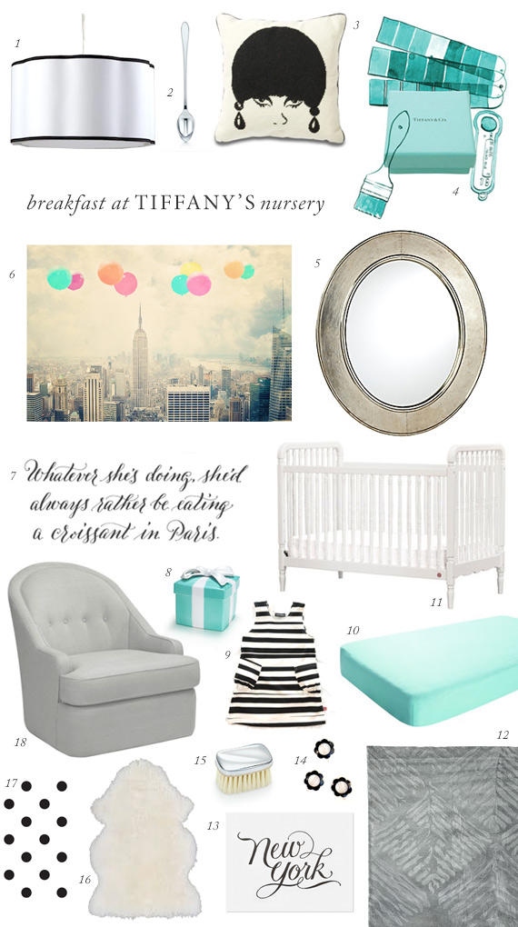 Breakfast at Tiffany's nursery | 100 Layer Cakelet
