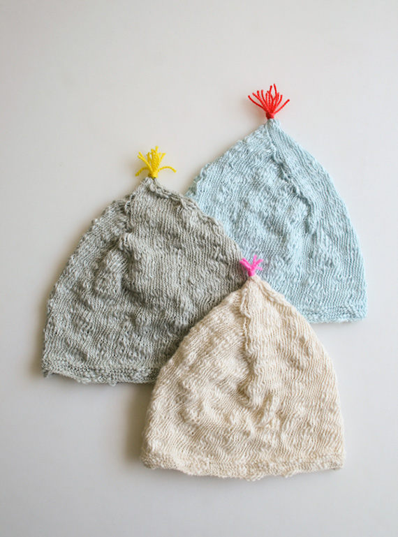 DIY newborn beanie from The Purl Bee | 100 Layer Cakelet