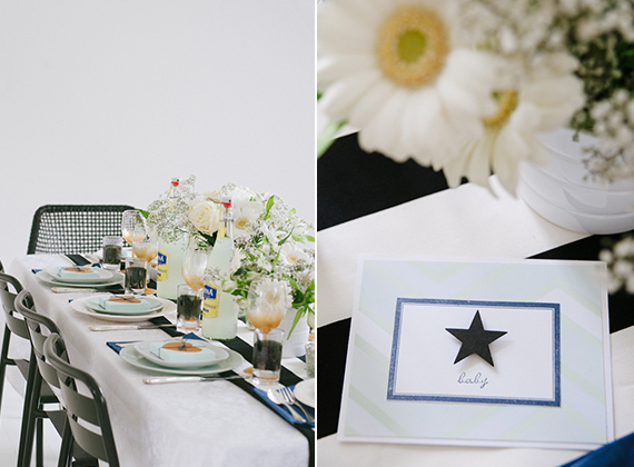 Black and white Danish baby shower | Tina Fussell | 100 Layer Cakelet