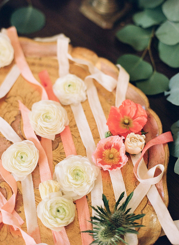 Floral wristlets for Kelly's bohemian baby shower by Bash Please | Lovechild Photography | 100 Layer Cakelet