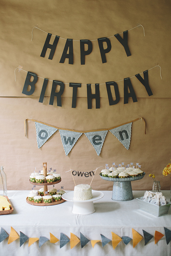 Simple rustic boys 1st birthday for Owen Kids Birthday Parties