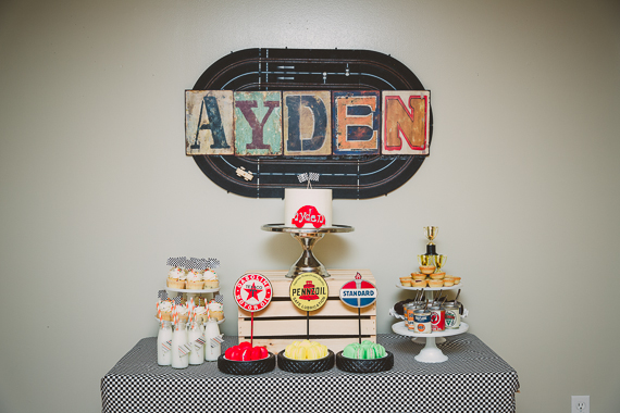 Race car 1st birthday by The Sugar Studio | 100 Layer Cakelet