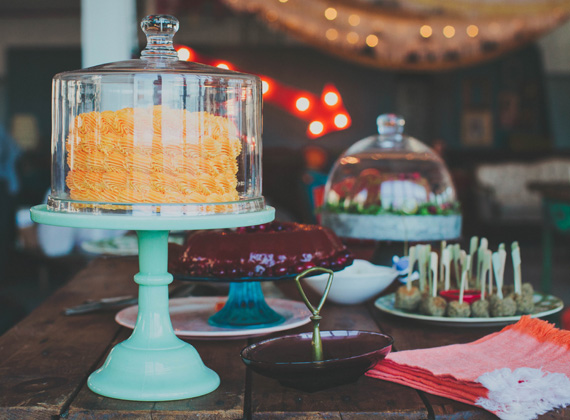 60's family Christmas party | Sharp Shooter Signs | Melissa McNeeley | 100 Layer Cakelet