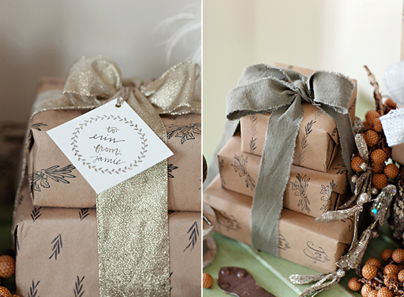 Yours is the Earth DIY stamped wrapping paper | 100 Layer Cakelet