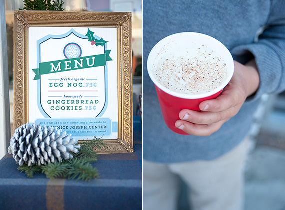 Holiday eggnog stand for charity at Urbanic | Jennifer Naraki | 100 Layer Cakelet