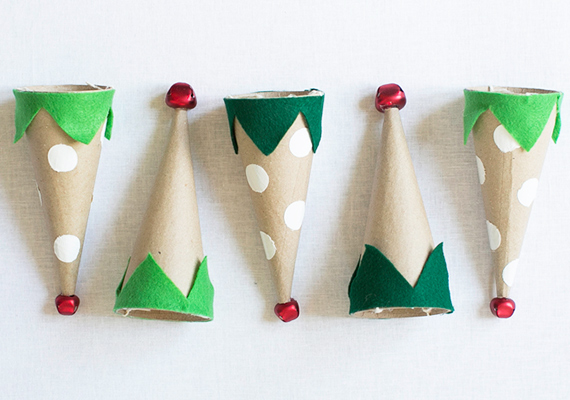 diy holiday elf party hats | 100 Layer Cakelet