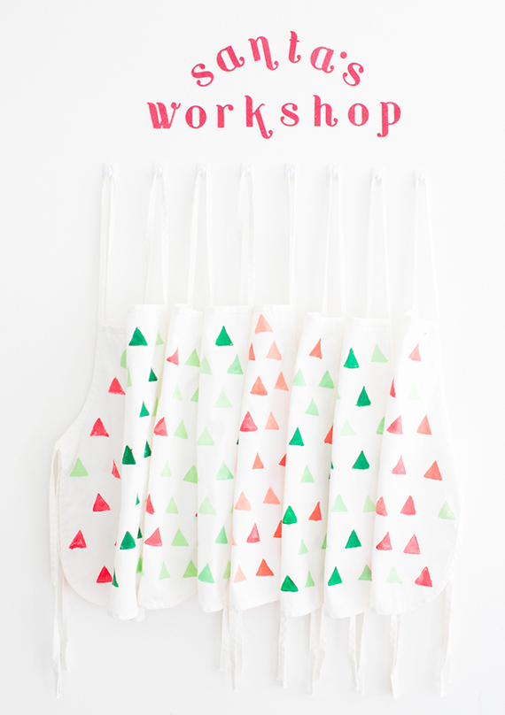 duh potato print aprons | photo by Scott Clark Photo | 100 Layer Cakelet