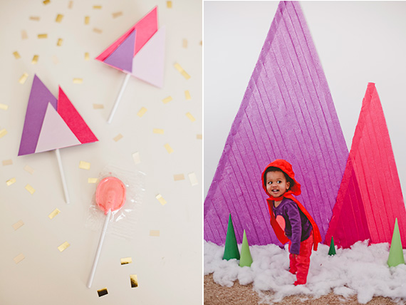 Geometric mountainy 5th birthday by Confetti Pop | 100 Layer Cakelet