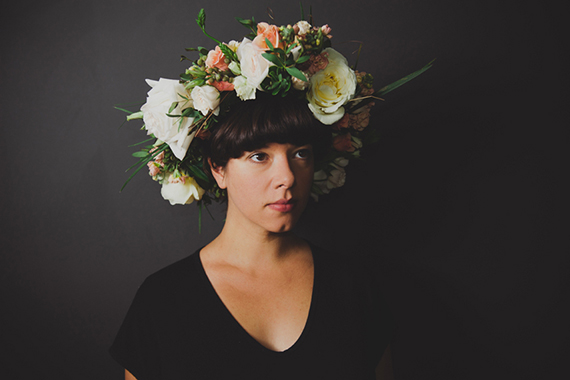 Flower crown maternity photos by Jayme Lang | 100 Layer Cakelet