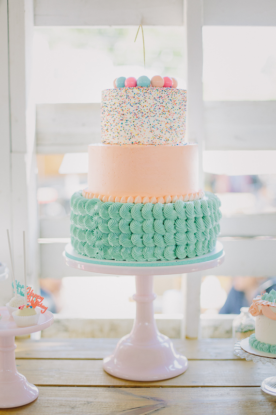Mint And Pink First Birthday Party For Aria Kids Birthday Parties