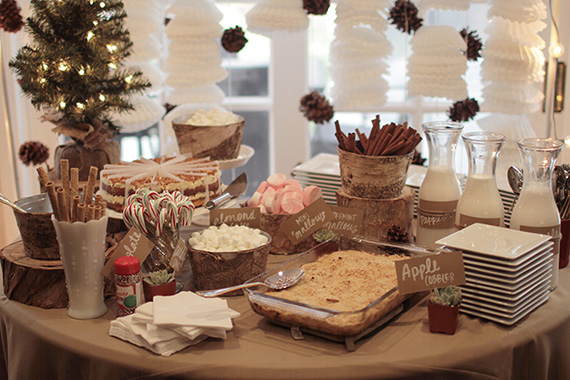 Winter baby shower by Jay Adores Designs | 100 Layer Cakelet