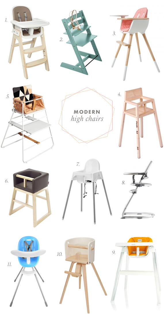 Our favorite modern high chairs | 100 Layer Cakelet