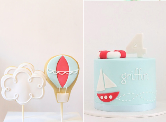 Nautical birthday cake by Hello Naomi | 100 Layer Cakelet