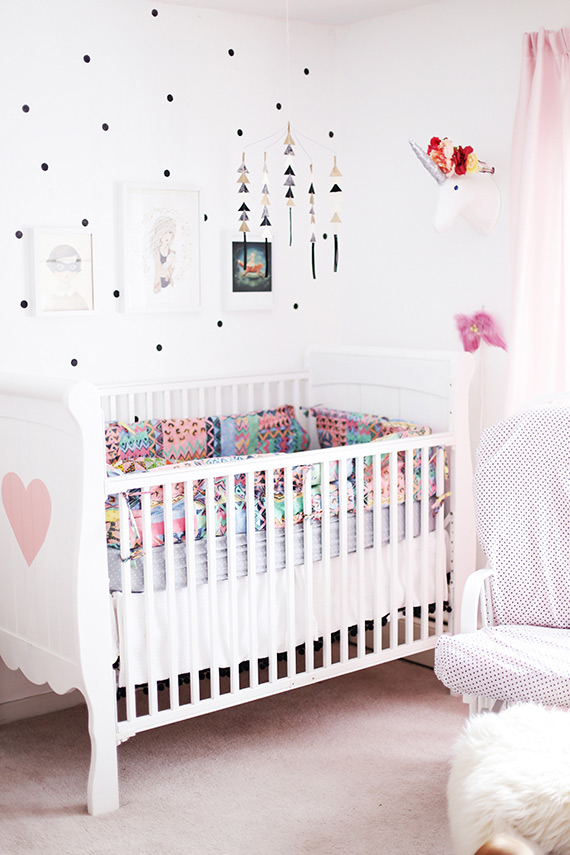 Eclectic girl's nursery | 100 Layer Cakelet