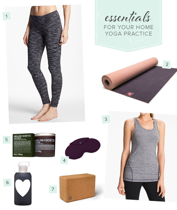 Essentials For A Home Yoga Practice Moms Motherhood 100 Layer Cakelet