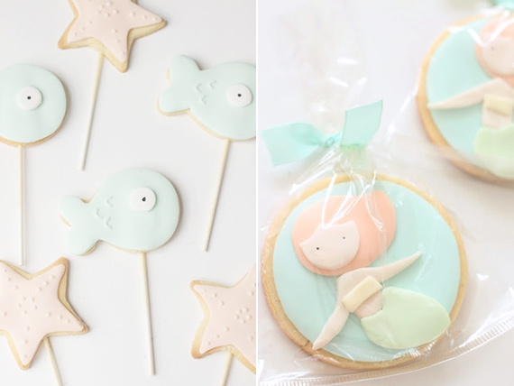 Mermaid cookies by Hello Naomi | 100 Layer Cakelet