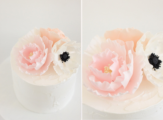 Peony and anemone wedding cake by Hello Naomi | 100 Layer Cakelet