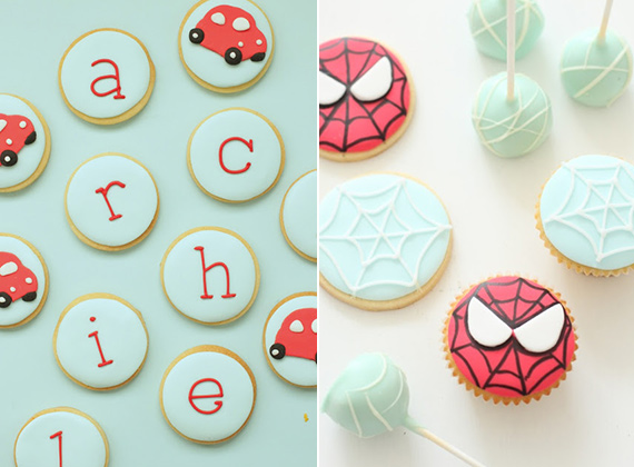Spiderman cupcakes by Hello Naomi | 100 Layer Cakelet