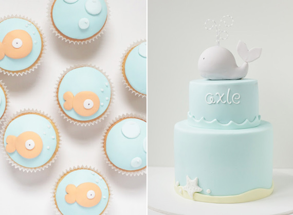 Sea-themed cakes by Hello Naomi | 100 Layer Cakelet