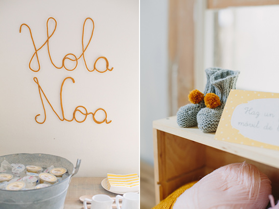 Crafty pink, yellow, and grey baby shower in Barcelona by Fueron Felicies | Kiss and Chips Photography | 100 Layer Cakelet