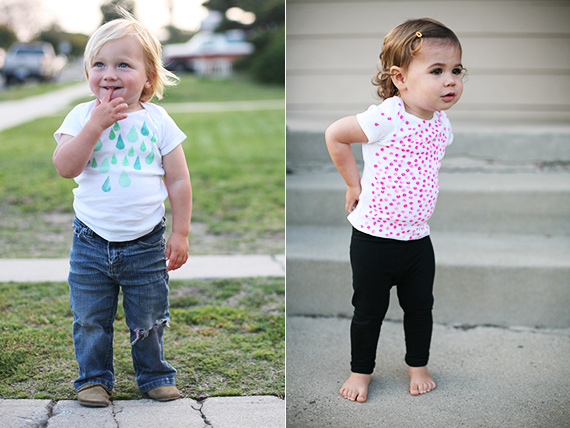 DIY baby tees | 100 Layer Cakelet