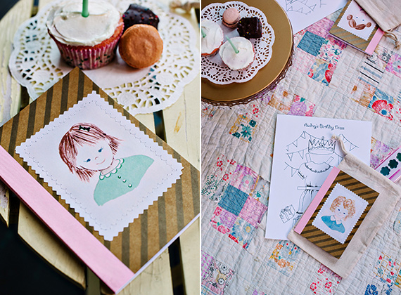 Paper doll birthday playmate | Bibliosophy Handmade | 100 Layer Cakelet
