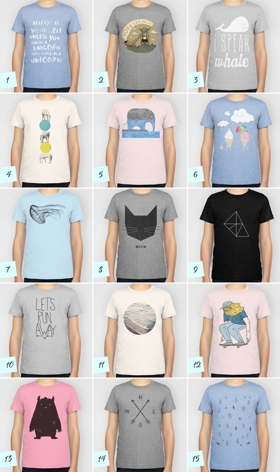 Graphic tees for boys from Society6.com | 100 Layer Cakelet