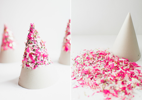 DIY confetti party hats | Photo by Cambria Grace Photography | Design by Lauren Wells Events | 100 Layer Cakelet