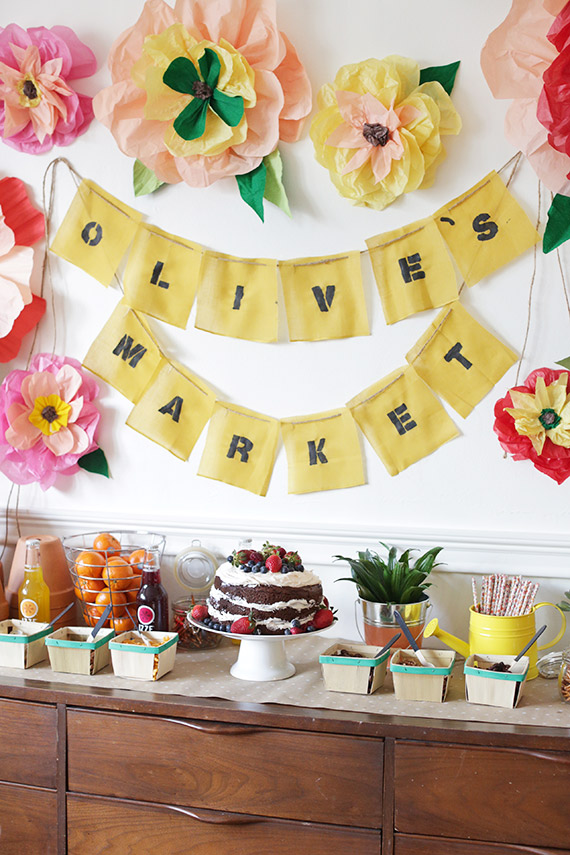 Farmers Market Birthday Party